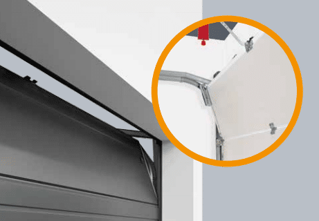 Ventilatie opening in garagedeuren