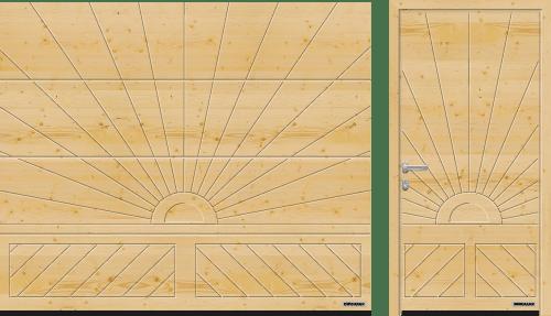 massief houten garagedeur